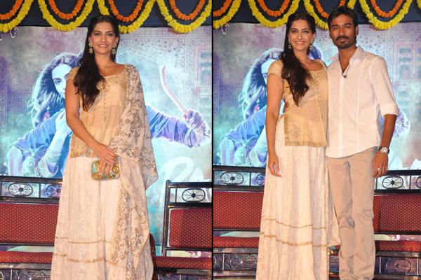 sonam dhanush promote raanjhanaa in mumbai watch pics