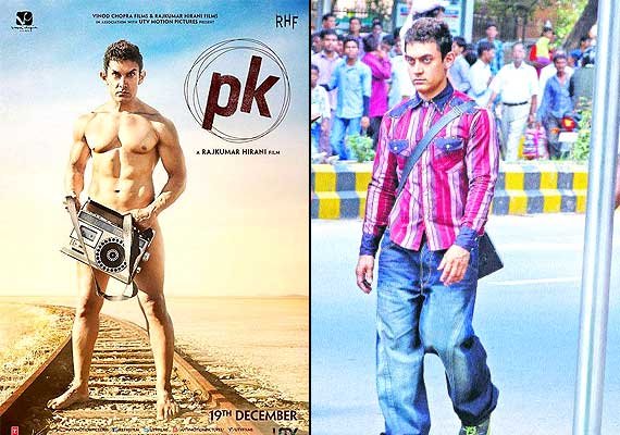 P.K. poster out: Nude Aamir Khan looks weird (see pics)