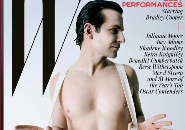 bradley cooper poses nude for w magazine