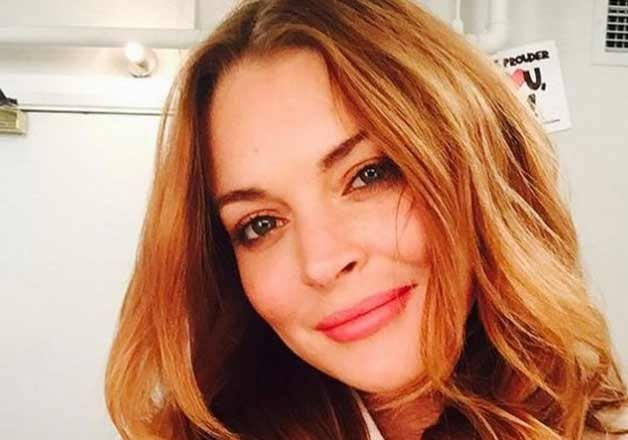 lindsay lohan jokes about her illness