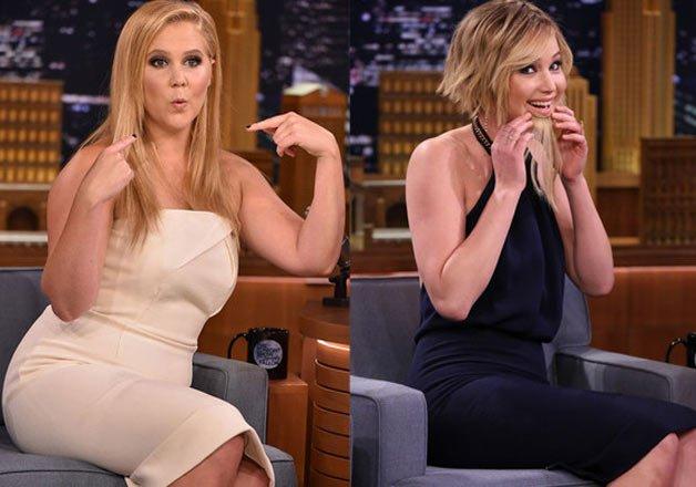 Jennifer Lawrence, Amy Schumer dance barefoot   Hollywood ...