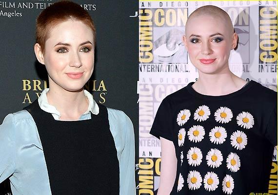 karen gillan shaves head goes bald for guardians of the