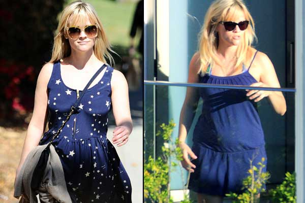 pregnant reese witherspoon taken to hospital