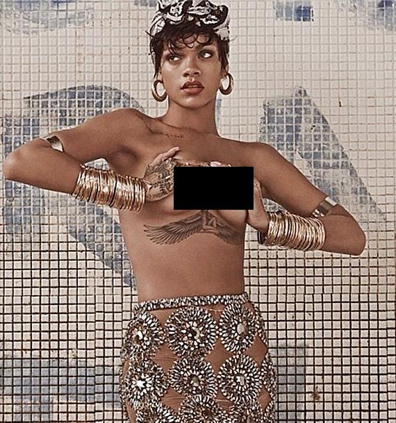 Rihanna Fully Naked