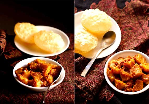 durga puja special try bengali luchi and aloo dum this time