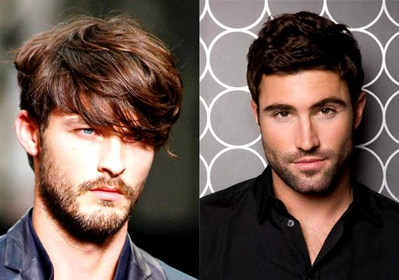 winter fashion match hairstyle with beard