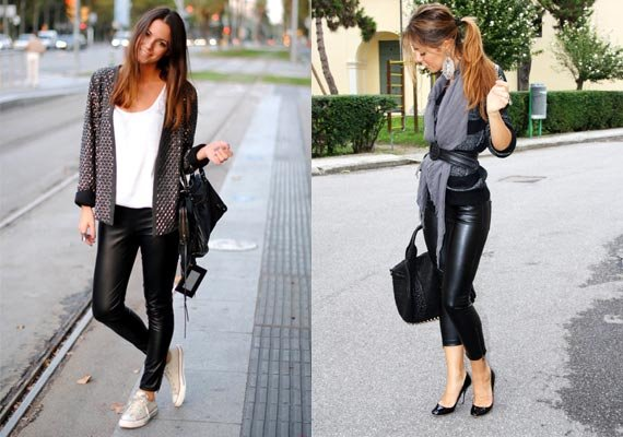 look stylish in winters with leather trousers