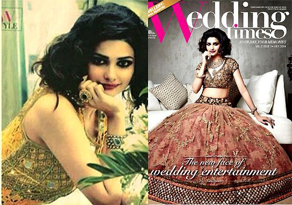 prachi desai sparkles as bride on the cover of wedding