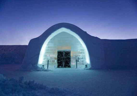 amazing world s first ice hotel forced to install fire