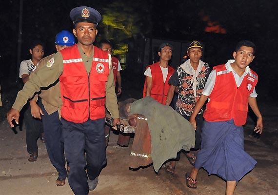 five injured in blast in myanmar during buddhist sermon