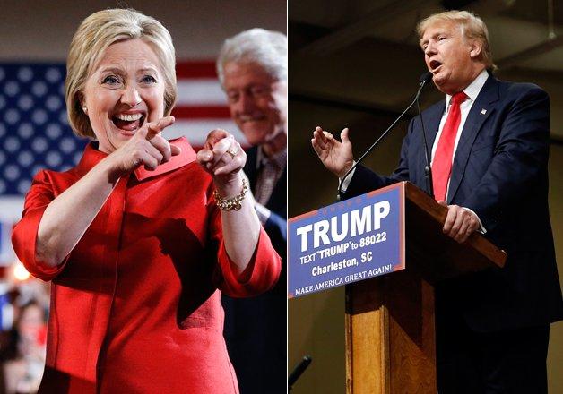 donald trump wins big in south carolina hillary clinton