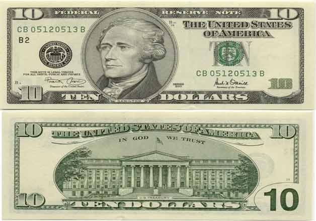 first time in centuary us to put image of a woman on usd 10