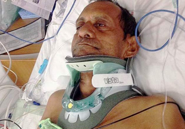 indian partially paralysed after alleged police brutality