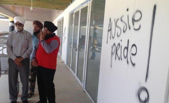 sikh gurdwara vandalised in australia