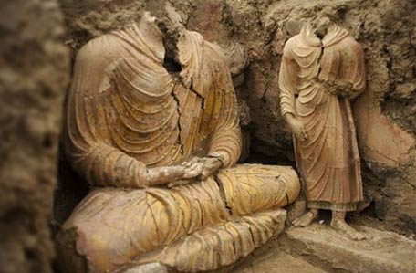 2 600 year old buddhist temple discovered by chinese mining