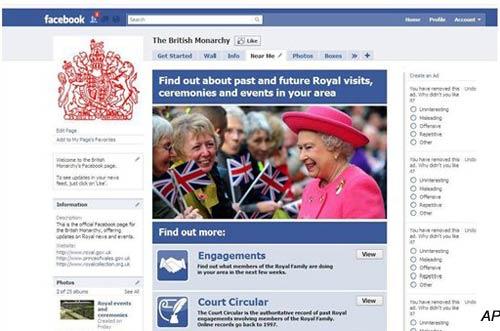 uk s queen elizabeth ii joins facebook