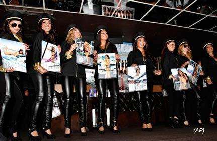 air hostesses make calendar to help bankrupt mexicana