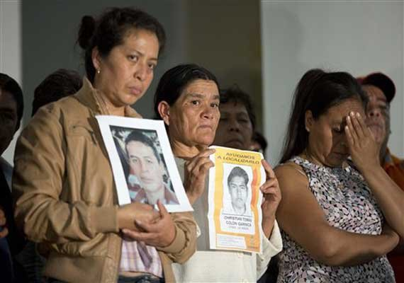 parents of mexico missing meet with president