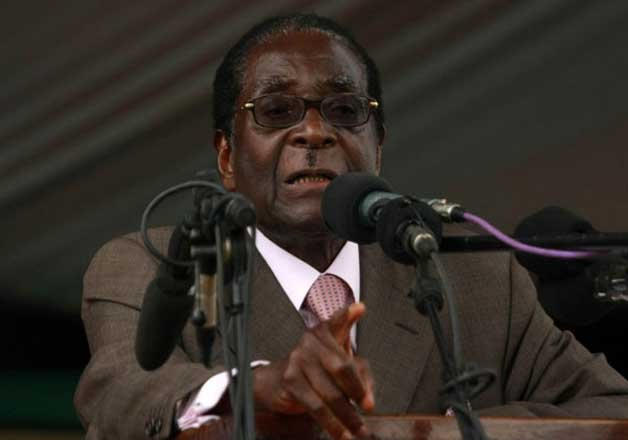 President of Zimbabwe falls over stairs, becomes internet