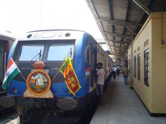 india assisted northern lanka railways trial run successful