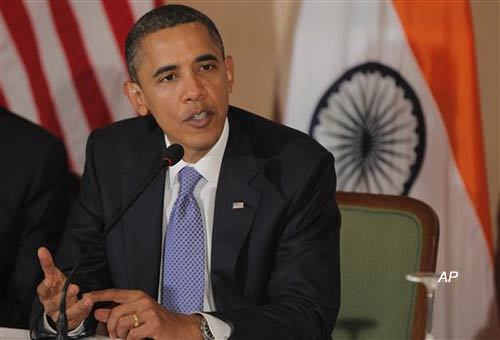 obama interacts with rajasthan villagers via videoconference