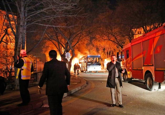 at least 28 dead 61 injured in ankara bombing