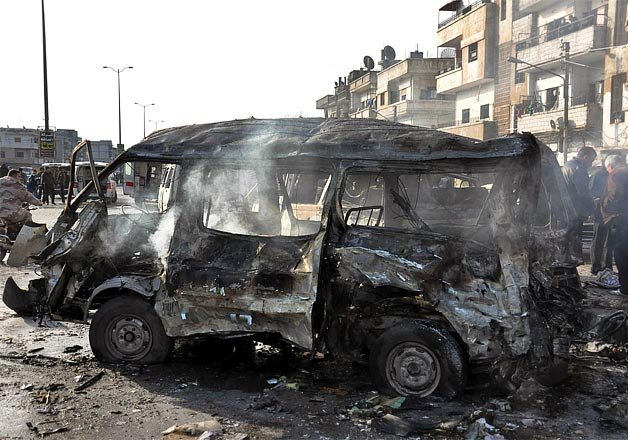 syrian tv two blasts in the city of homs 32 killed 29