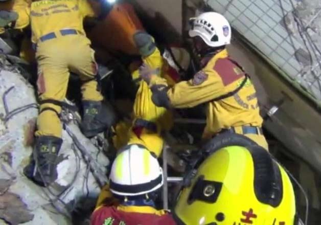 death toll rises to 108 in taiwan earthquake