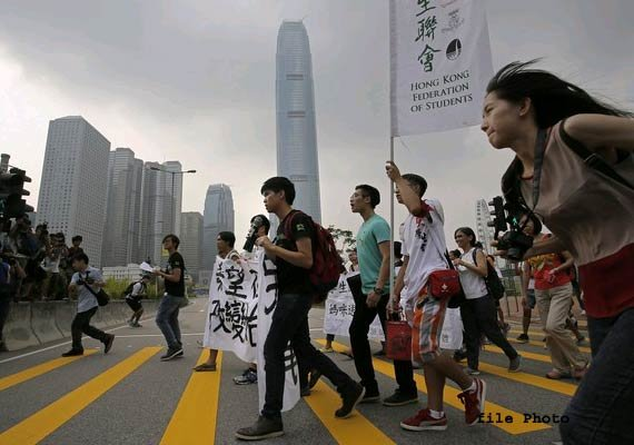 march planned to mark a month of protests in hong kong
