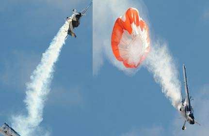 plane s wing snaps off mid air pilot walks away with burnt