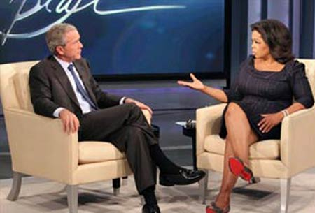 bush to speak with winfrey leno others