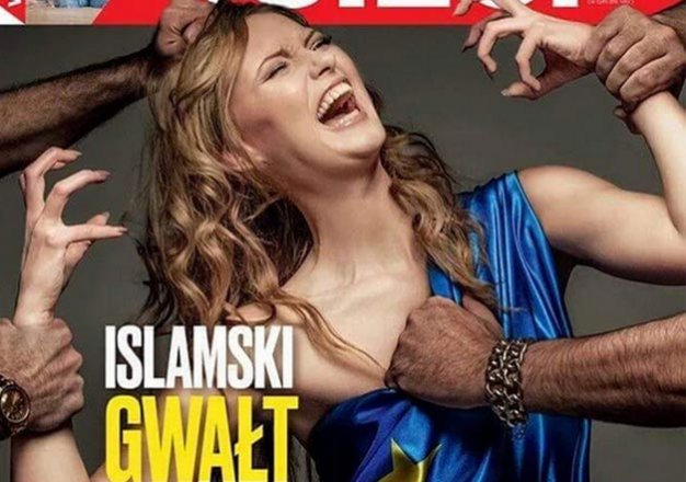 islamic rape of europe polish magazine s cover sparks