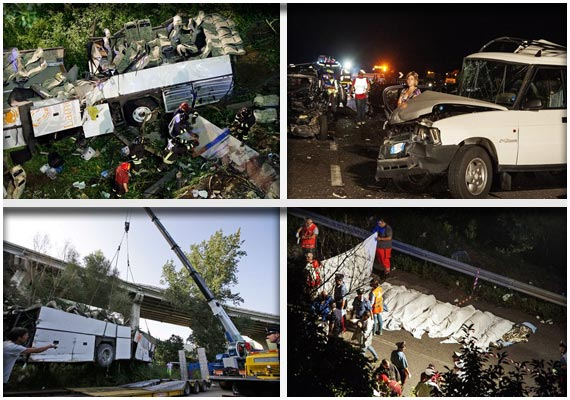 tourist bus falls in italy watch rescue operation in pics