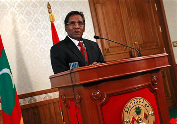 maldives president expands cabinet inducts seven ministers