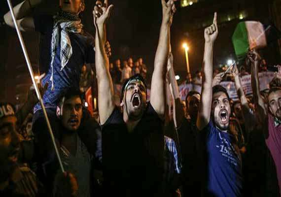 protest staged in turkey against israeli gaza offensive