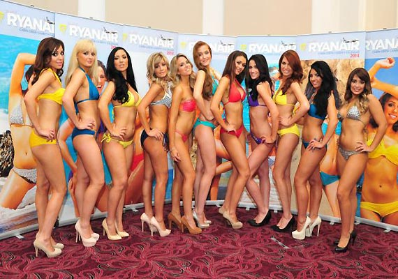 ryanair airhostesses strip off for charity