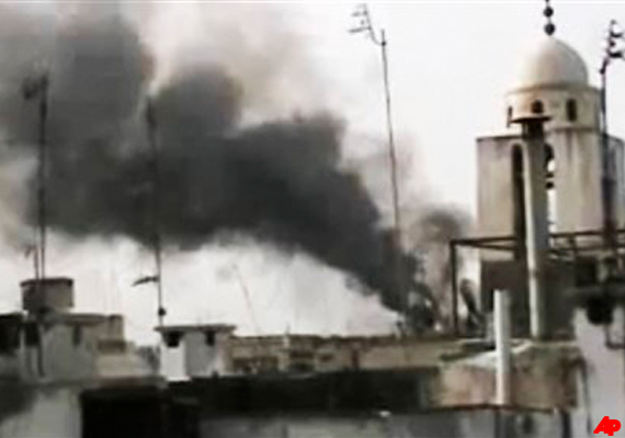 syrian troops shell homs eight killed