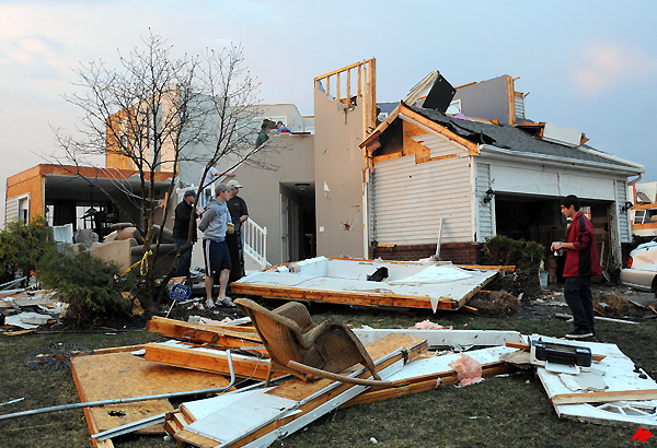 tornado destroys two houses damages several others in
