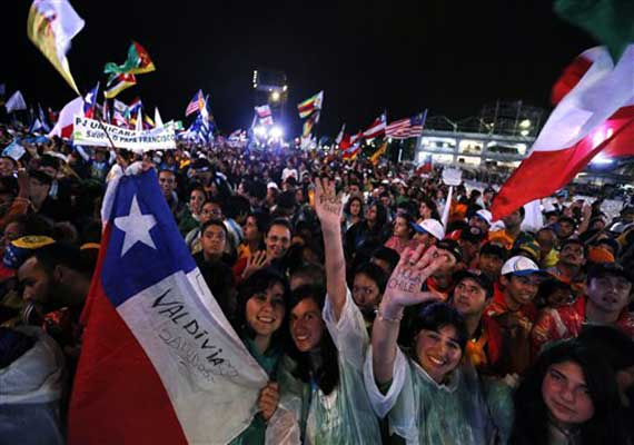 watch in pics brazil celebrating world youth s day