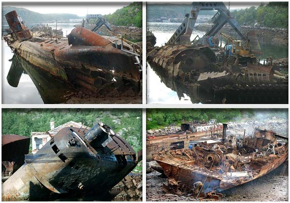 Watch the forgotten Soviet submarine graveyard | World News