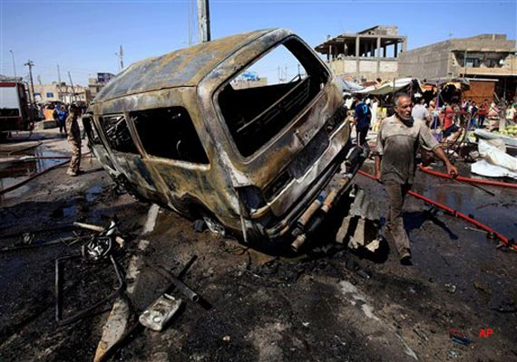 wave of car bombings in iraq kills at least 58