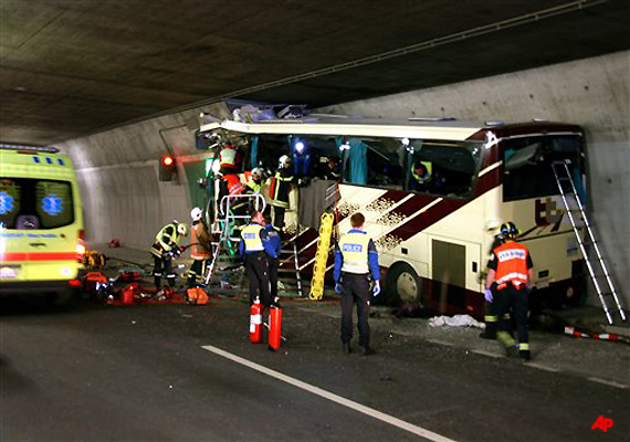 28 people including 22 children die in swiss bus accident