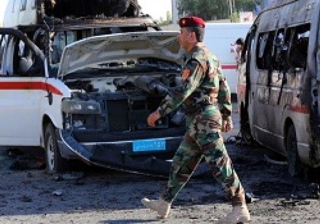 twin bombing attacks in baghdad market kill at least 24