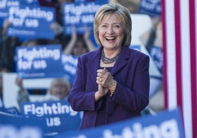 hillary clinton registers landslide victory in south