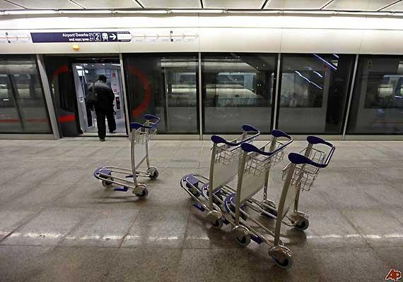 airport metro resumes check in facility at new delhi station