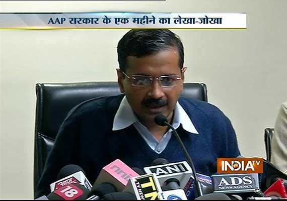 arvind kejriwal says people are happy in one month report