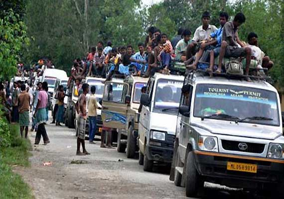 assam limps back to normal 8 186 leave camps