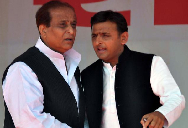 azam khan takes oath as up minister