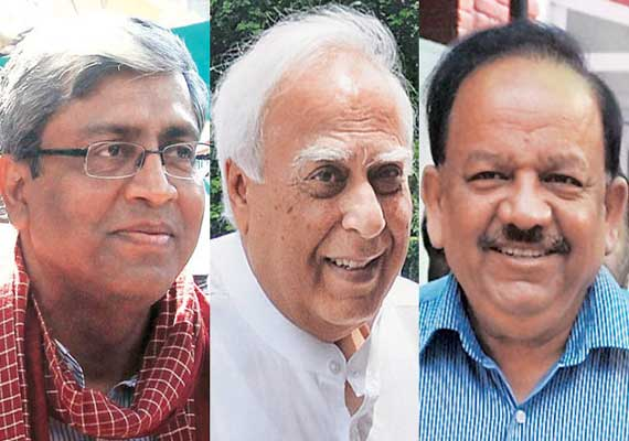 battle of wits between harsh vardhan and kapil sibal in