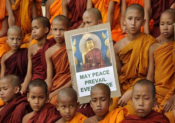 buddhist monks take out rally to protest bodh gaya blasts